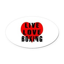 Live Love Boxing Oval Car Magnet