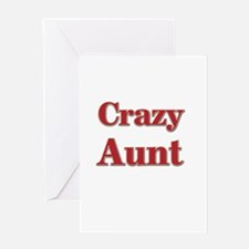 Crazy Aunt (red) Greeting Card