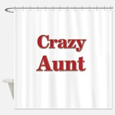 Crazy Aunt (red) Shower Curtain