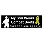 My Son Wears Combat Boots Bumper Sticker