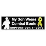 My Son Wears Combat Boots Bumper Sticker