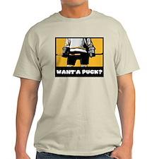 Funny Hockey Ash Grey T-Shirt