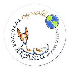 Rat Terrier World Round Car Magnet