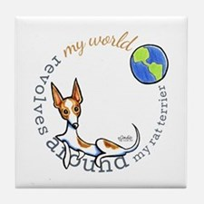 Rat Terrier World Tile Coaster