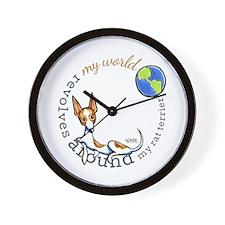 Rat Terrier World Wall Clock