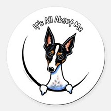 Rat Terrier IAAM Round Car Magnet
