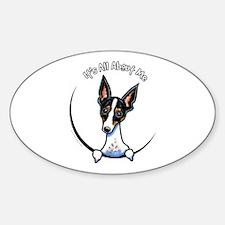 Rat Terrier IAAM Sticker (Oval)