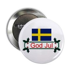 Swedish God Jul Button