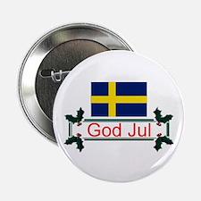Swedish God Jul Button