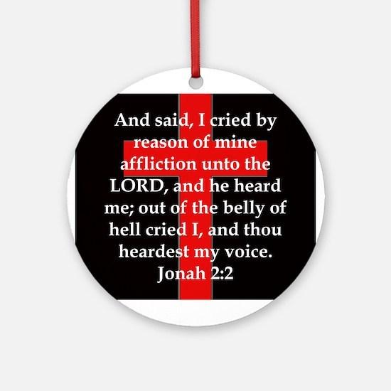 Jonah 2-2 Round Ornament