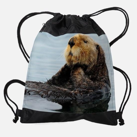 115x9_calender_otter_11.png Drawstring Bag