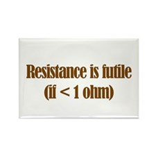 Resistance is Futile Rectangle Magnet (10 pack)