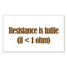 Resistance is Futile Rectangle Decal