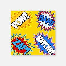 Hero Comic Pow Bam Zap Bursts Sticker
