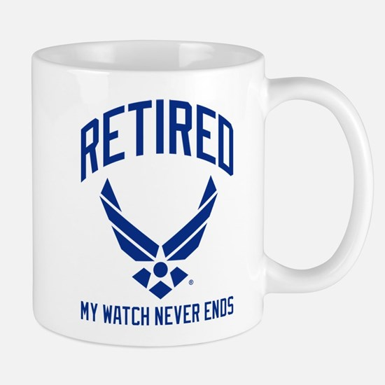 USAF Retired Watch Never Ends Mug