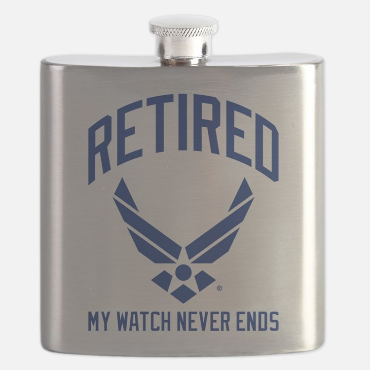 USAF Retired Watch Never Ends Flask