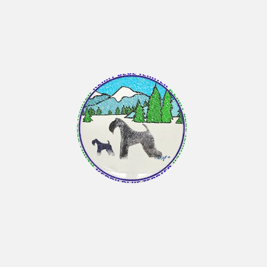 KERRY BLUE TERRIER Mini Button