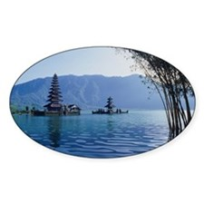 Indonesia, Bali, pagodas floating i Decal