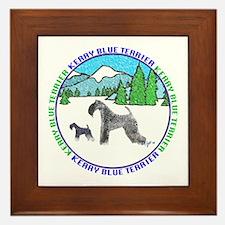 KERRY BLUE TERRIER  Framed Tile