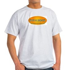You Da Mensch Logo Ash Grey T