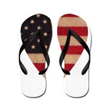 HEART OF AMERICA.psd Flip Flops