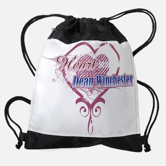 heartDean_dk.png Drawstring Bag