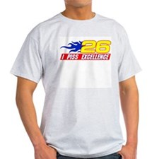 I Piss Excellence Ash Grey T-Shirt
