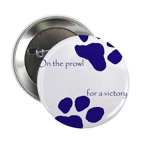 """Tiger Paw Blue 2.25"""" Button (100 pack)"""