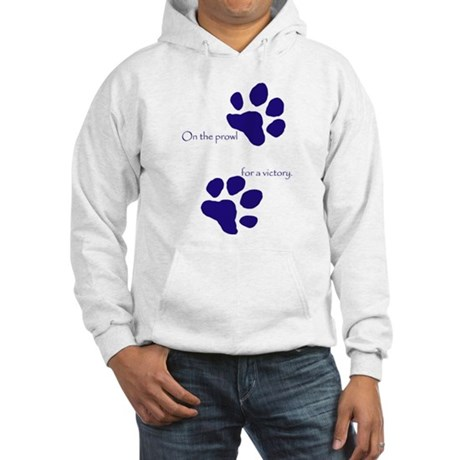 Tiger Paw Blue Hooded Sweatshirt