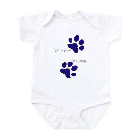 Tiger Paw Blue Infant Bodysuit