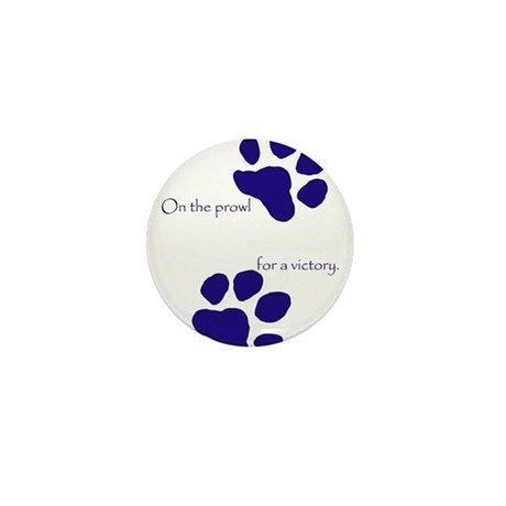 Tiger Paw Blue Mini Button (10 pack)