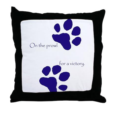 Tiger Paw Blue Throw Pillow