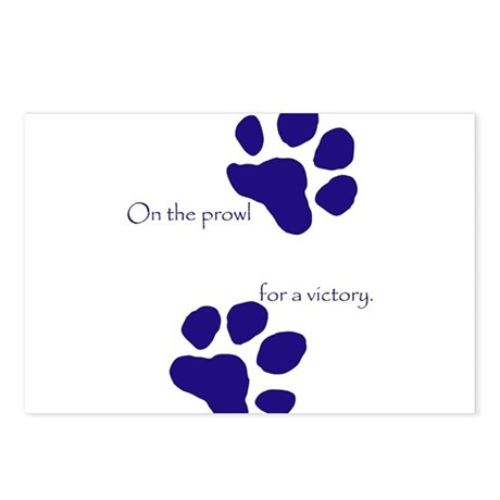 Tiger Paw Blue Postcards (Package of 8)