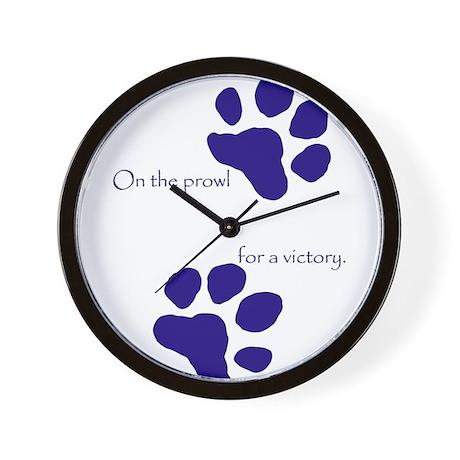 Tiger Paw Blue Wall Clock