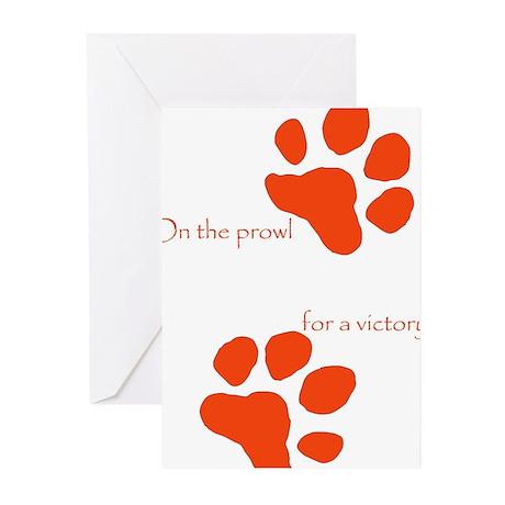 Tiger Paw Orange Greeting Cards (Pk of 10)