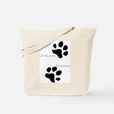 Tiger Paw Black Tote Bag