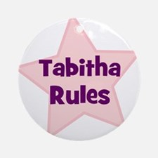 Tabitha Rules Ornament (Round)