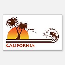 California Rectangle Bumper Stickers