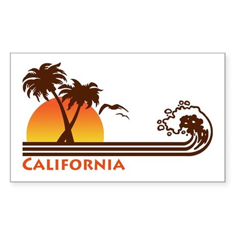 California Rectangle Sticker