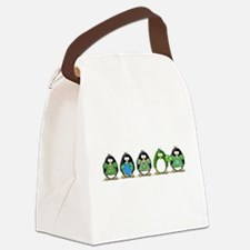 go green penguin group.png Canvas Lunch Bag
