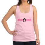 pink ribbon penguin.png Racerback Tank Top