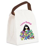 I Love Candy.png Canvas Lunch Bag
