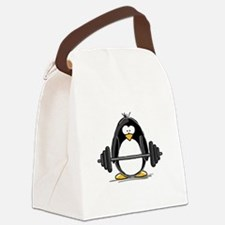 weight lifting.png Canvas Lunch Bag
