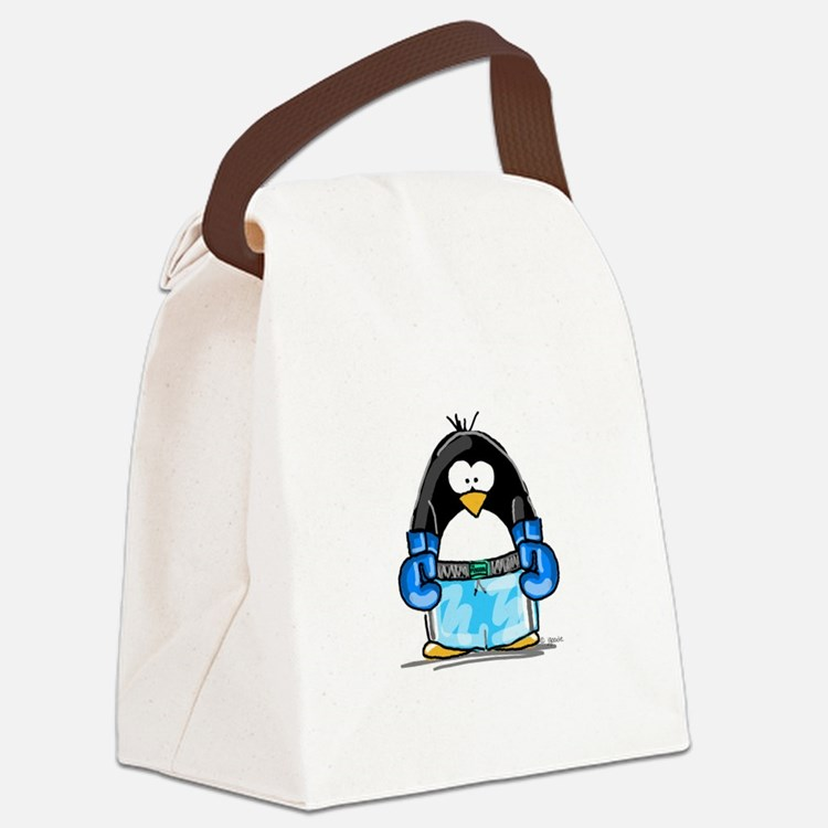 BlueBoxing.jpg Canvas Lunch Bag