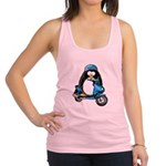 BlueScooter.png Racerback Tank Top