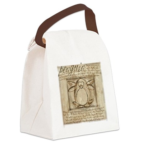 leonardo-penguin-card.png Canvas Lunch Bag