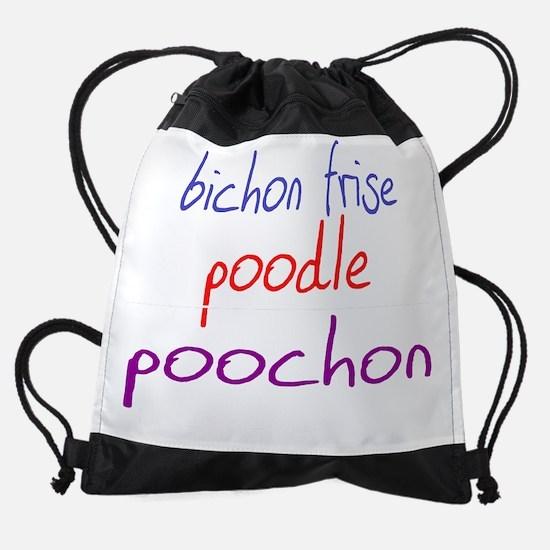 poochon_black.png Drawstring Bag