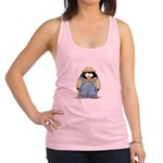 Farmer Penguin Racerback Tank Top