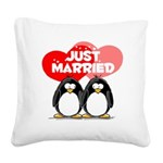 Just Married.png Square Canvas Pillow