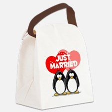 Just Married.png Canvas Lunch Bag